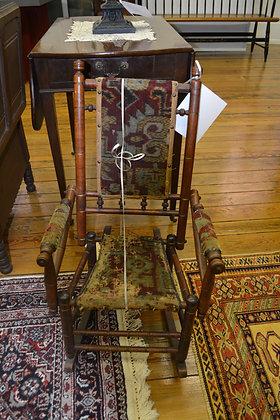 Child's Carpet Rocker - ca 1870 - VERY Rare!
