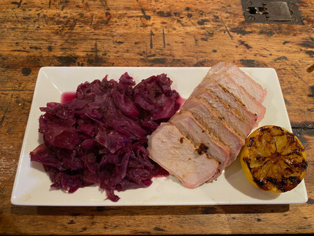 When Life Gives You Lemons - Charred Lemon Pork Chops With Braised Cabbage