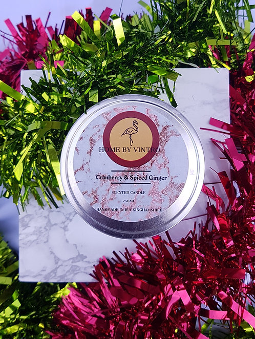 Cranberry & Spiced Ginger candle- Xmas Limited Edition (CLEARANCE)