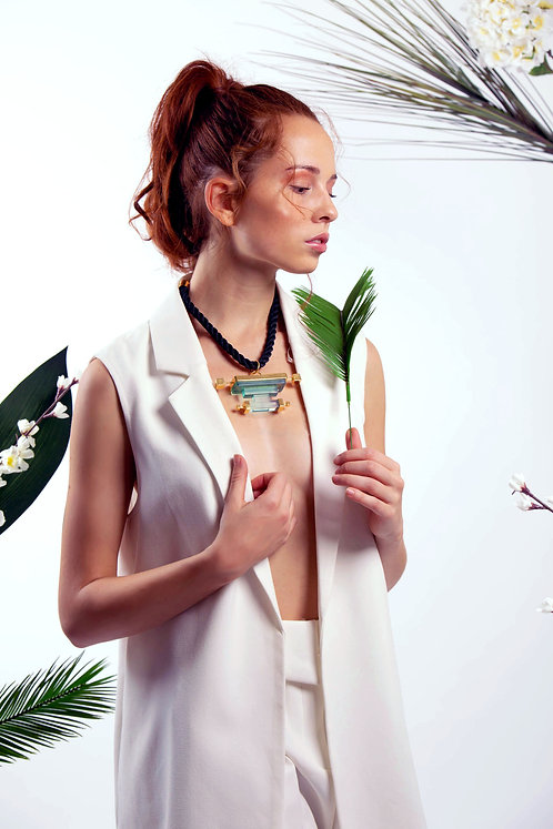 Priyah Necklace in Lagoon Green