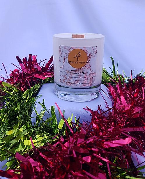 Frankincense & Myrrh Soy candle- Xmas Limited Edition (CLEARANCE)