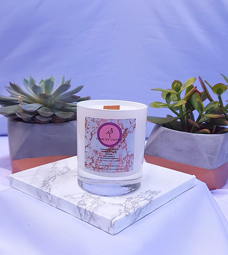 Damson Plum, Rose & Patchouli Soy candle