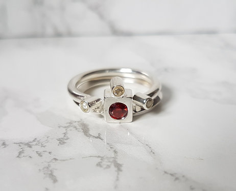 Double Stack Ring in Silver