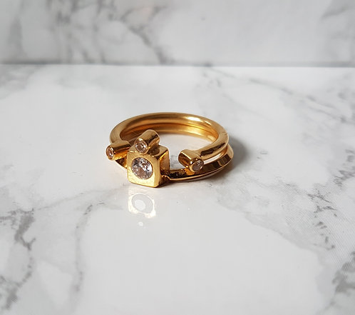 Double Stack ring in Gold