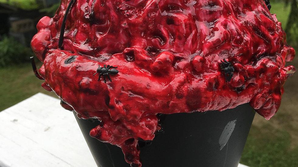 Bloody Brain in Black Metal Bucket