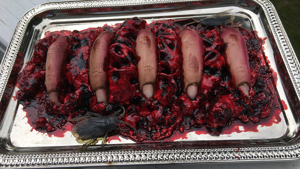 Fingers on Tray
