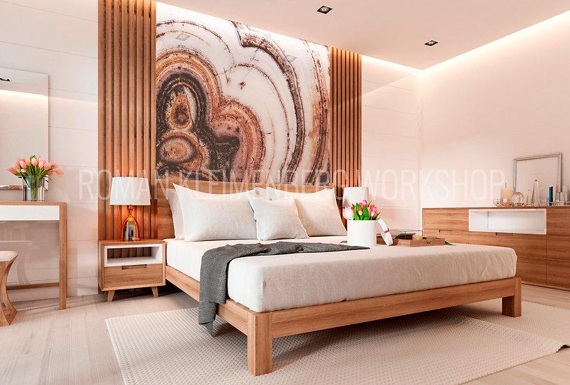 Агат | художественный принт| спальня | цена м2