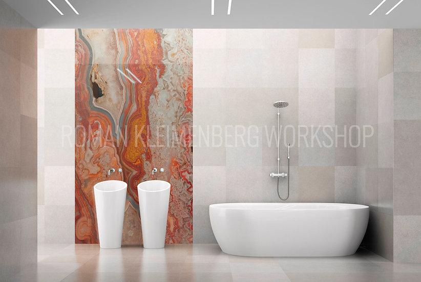 Агат | художественный принт| ванная | цена м2