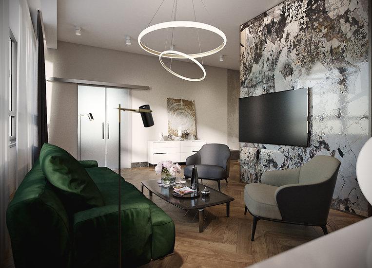 Гранит|художественный принт| гостиная|цена м2