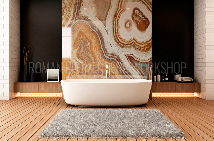Агат|художественный принт| ванная|цена м2