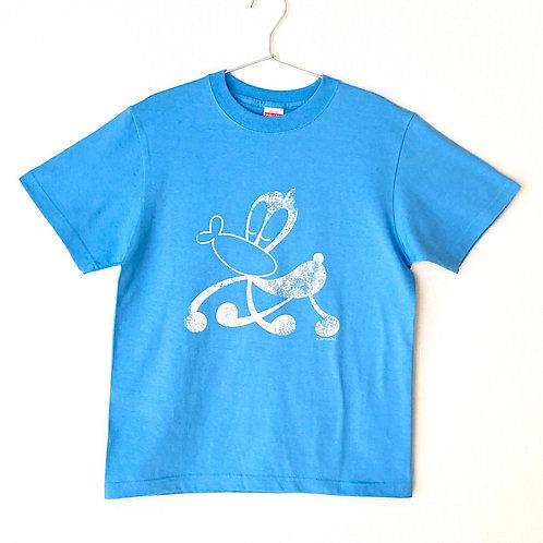 サイエンスSARU Tシャツ (サックス×ホワイト/S・M・L)
