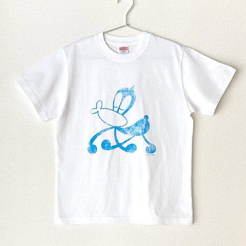 サイエンスSARU Tシャツ (ホワイト×サックス/S・M・L)