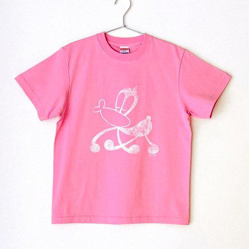 サイエンスSARU Tシャツ (ピンク×ホワイト /S・M・L)