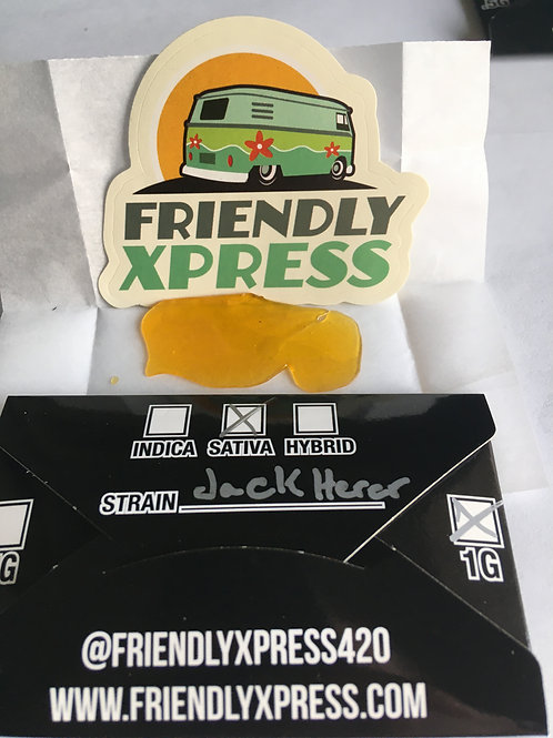 Friendly Extracts Jack Herer 1G Shatter