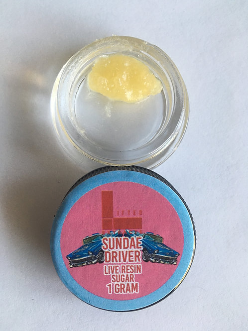 Lifted Extracts Sundae Driver 1G live resin sugar