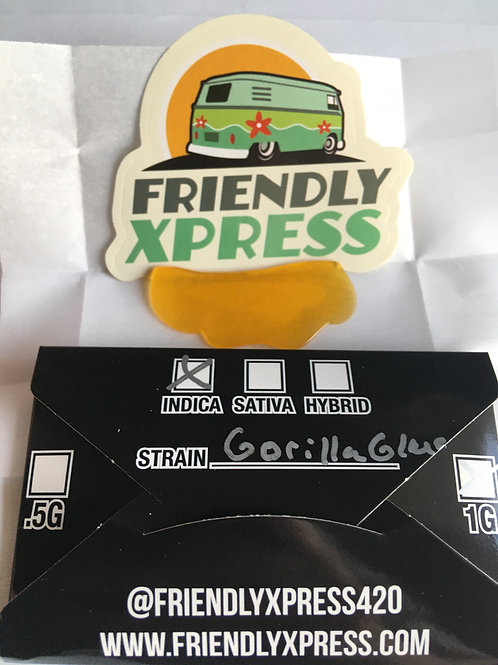 Friendly Extracts Gorilla Glue 1G Shatter