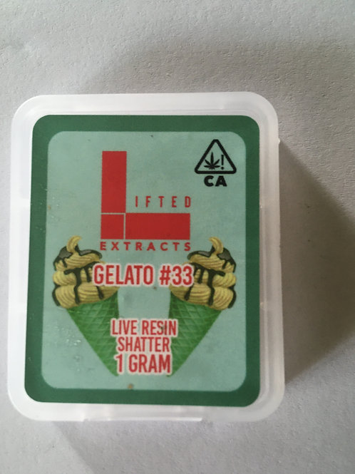 Lifted Extracts Gelato #33 1G shatter