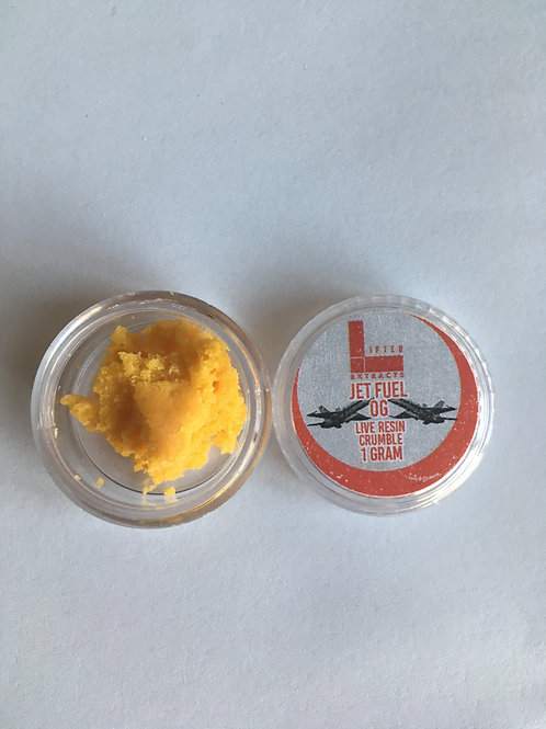 Lifted Extracts Jet Fuel 1G Crumble