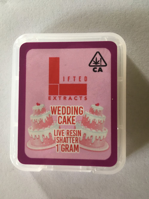Lifted Extracts Wedding Cake 1G shatter