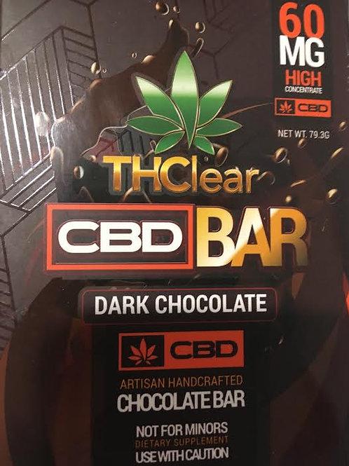 THClear 60mg CBD Dark Chocolate bar