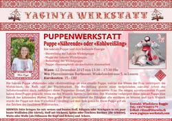 Flyer PUPPENWERKSTATT am 12.12.2015 in Luzern