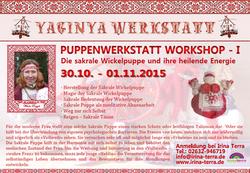 PUPPENWERKASTATT WORKSHOP II in Koblenz 30.10.2015