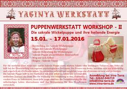 PUPPENWERKASTATT WORKSHOP II in Koblenz 15.01.2016