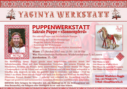 Flyer PUPPENWERKSTATT am 17.10.2015 in Luzern (Bild Winter)