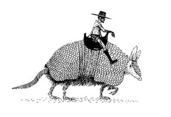 Armadillo Cowboy (sketchbook work)