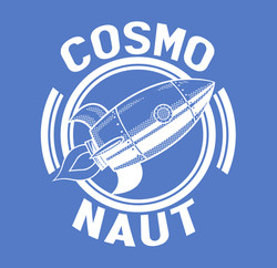 COSMO NAUT BLUE AND WHITE