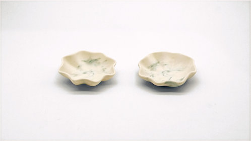 A Pair of Neriage Small Dish 透光磁練上 小皿 一對