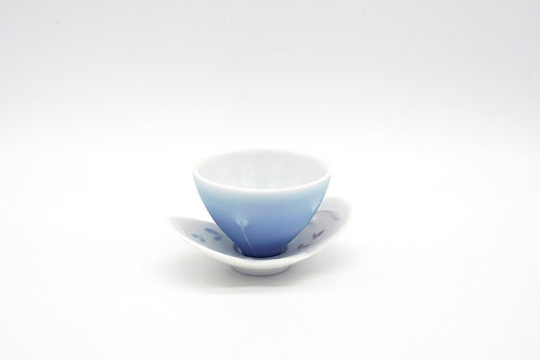 Sake Cup With Plate 小花杯和小碟