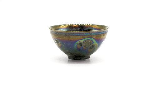 Tenmoku tea cup with special glazing 曜變天目杯