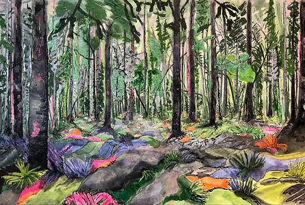 Donna Chudnow,How Green Can We Go, Acryl