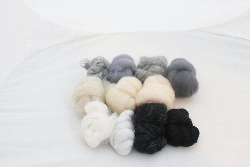 Felting Wool  Mix 6 Corriedale Wool, Merino Wool, Needle Felting Wool # 5487