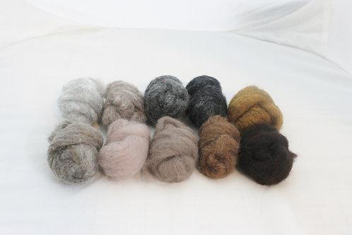 Felting Wool  Mix 1 All Corriedale Wool #5482