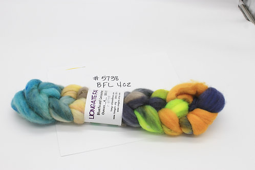 Bluefaced Leicester hand painted roving