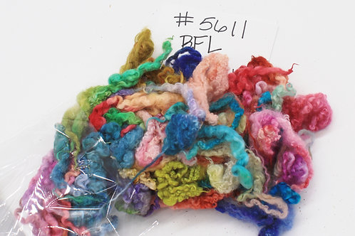 Rainbow dyed BFL locks