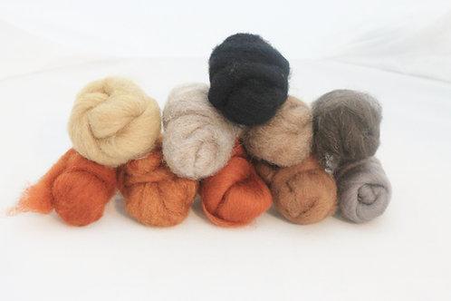 Felting Wool  Mix 2 All Corriedale Wool #5483
