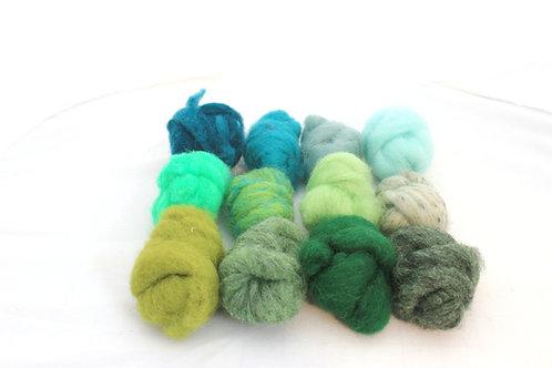 Felting Wool  Mix 5 All Corriedale Wool #5486