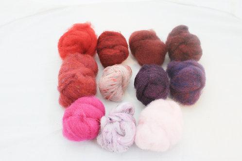 Felting Wool  Mix 7  Corriedale Wool, Merino Blend wool # 5488