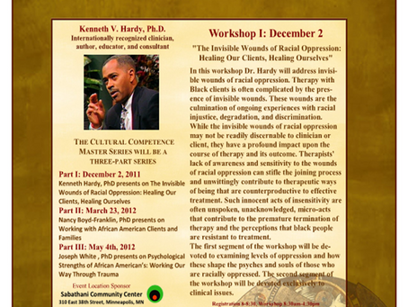 The Invisible WoundsofRacial Oppression: HealingOur Clients, Healing Ourselves