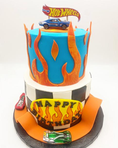 Hot Wheels Custom Childrens Cake