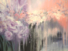 If Stars Were Flowers, original contemporary flower painting by Tatiana iliina