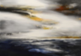 Indifference to Fate original abstract seascape painting by Tatiana Iliina