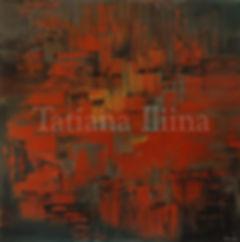 Building Trails, original dark rust abstract palette knife painting by Tatiana iliina