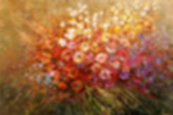 Wanderlust, original contemporary flower painting by Tatiana iliina