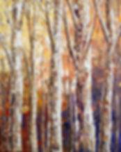 "Warm Breezes, original forest painting by Tatiana Iliina acrylic on canvas, 11""x14"""
