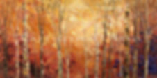 Tintern Woods painting by Tatiana iliina, fall colors impressionist art
