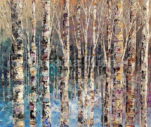 "Spirit of Winter, original giclee painting by Tatiana iliina, hand embellished acrylic on canvas, 24'x36"""